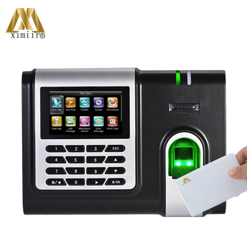 Hot Sale Time Clock Fingerprint Sensor With Free Software And MF IC Card Reader X628-C Biometric Attendance System