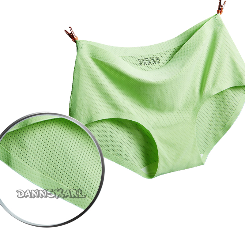 The new Women's Panties hollow out ladies seamless underwear silk woman comfortable Reticulation cloth briefs