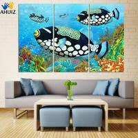 Wandkunst HD Ozean bunte fische Moderne Bild Druck Auf Leinwand Gemälde Home Decoration Für Wohnzimmer leinwand malerei D056