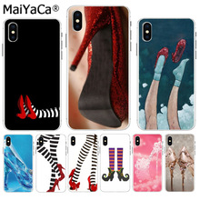 MaiYaCa Wicked witch feet black red shoes Top Detailed Popular Phone case  for iPhone 8 7 b2b773b611d4