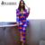 FLODISS 2017 Conjuntos de Moda de Nova Blazer Mulheres de Multi Impressão Clube Roupas senhoras Casuais Único Botão Top + Calças 2 Peças Ternos Partido