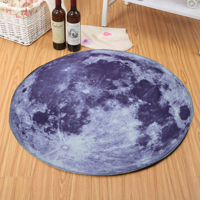 Carpets For Living Room Kids Galaxy Bedroom Carpet Universe Outer Space Themed Children Round Play Rug