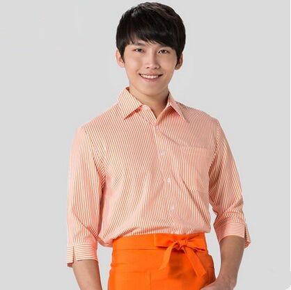 Restaurant Waiter Shirt Chinese Waitress Shirt Restaurant Uniform Shirt Long Sleeve Korean Restaurant Uniform