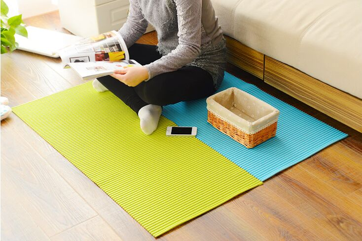 New Kitchen Bathroom Non Slip Mats Waterproof PVC Carpet Shoe Rack Mat  Cabinet Carpet Thicker Pvc Colorful Rug Free Shipping In Mat From Home U0026  Garden On ...