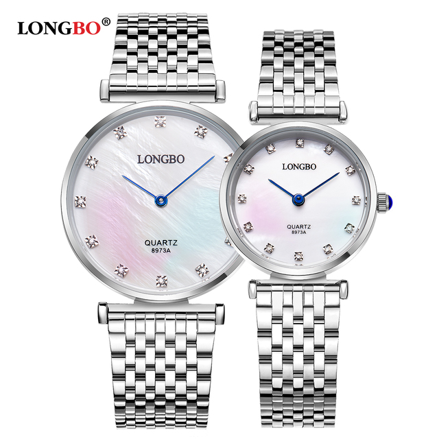 LONGBO Luxury Brand Classic Couples Watches Business Style Lovers Men Women Cloc