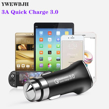 YWEWBJH Car Charger Quick Charge 3.0 USB Fast Charger for Xiaomi mi 9 For iPhone X Xr 8 S9 S8 QC 3.0 USB Car Charger Fast Charge цены