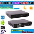 2015 Nueva Hi3798M H.265 HD Red DVR 4/8 Canales CANALES de 5MP/3MP CCTV NVR Para 5MP/3MP Cámara IP Onvif 2.3 Apoyo 3G Wifi RS485PTZ