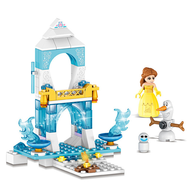 Firends Snow Princess Castle Park Model Building Blocks Brick compatible Sermoido Educational Toys For Children Gift in Blocks from Toys Hobbies