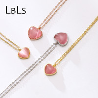 Necklace Sterling Silver 925 Hearts Sweet Love Heart Necklaces Pendants Choker Necklace Silver For Girls Women