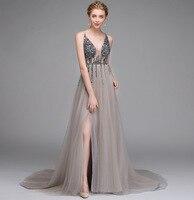 Глубокий v образный вырез Сексуальное Женское Платье для свадебной вечеринки с блестками Элегантные Длинные свадебные платья высокое каче