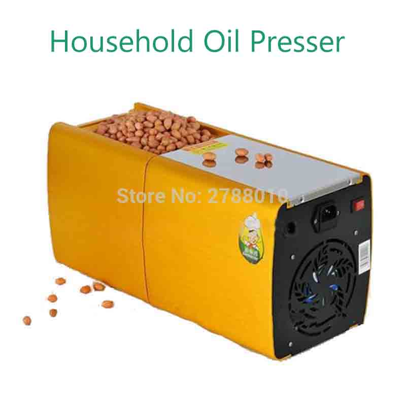 200W Mini Oil Press Machine Electric Peanut Oil Extraction Household Oil Presser HF-04 jiqi automatic industrial oil press machine press preheat oil presser 220v 110v peanut soybean high extraction rate household