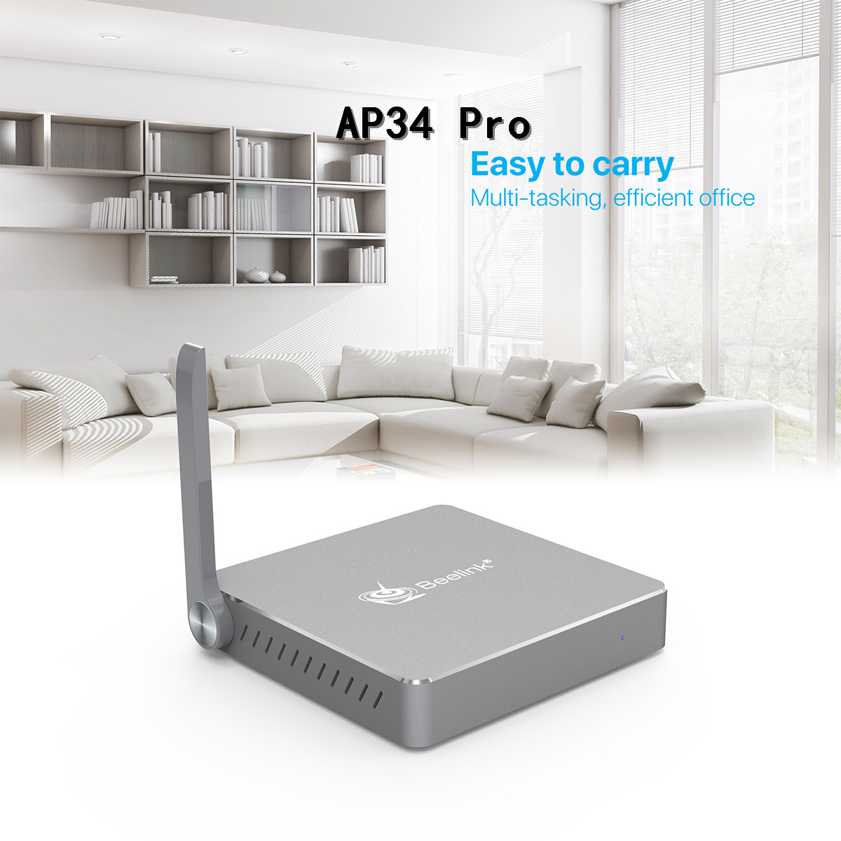 Smart Beelink AP34 Pro Gemini X55 X45 S2 Android TV Box Mini PC Windows 10 Bluetooth Set Top Boxes Media Player Vs Gt1 Ultimate beelink mini pc bluetooth 4 0 usb 3 0 2 4 5 8g 4gb 320gb x7 z8700 wifi 4k 1000m lan windows 10 tv box beelink bt7 media player