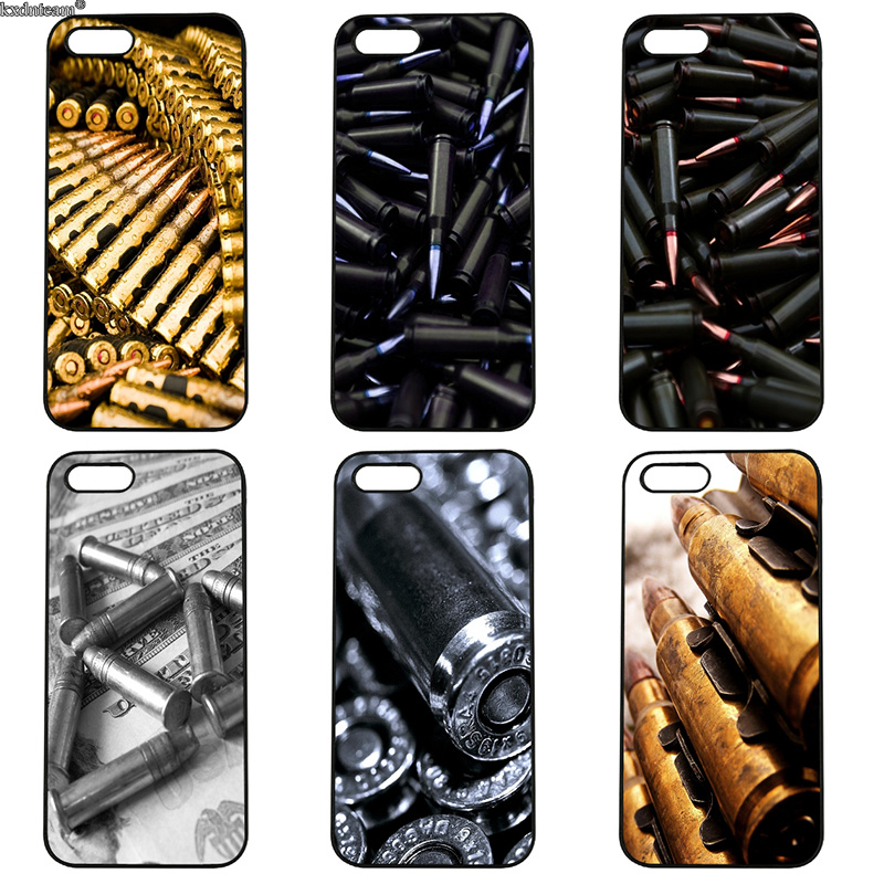 Loose Gold Bullets Mobile Phone Case Hard PC Anti-knock Cover for iphone 8 7 6 6S Plus X 5S 5C 5 SE 4 4S iPod Touch 4 5 6 Shell