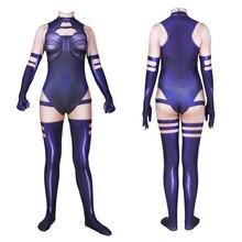 Superhero Movie X-Men Psylocke Betsy Elizabeth Braddock Cosplay Costume Zentai Adult Kids Female Bodysuit Suit Jumpsuits BOOCRE