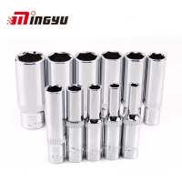 11PCS 1 4 Drive Socket Set CRV Hand Tools 6 Point DEEP SOCKET Set Free Shipping