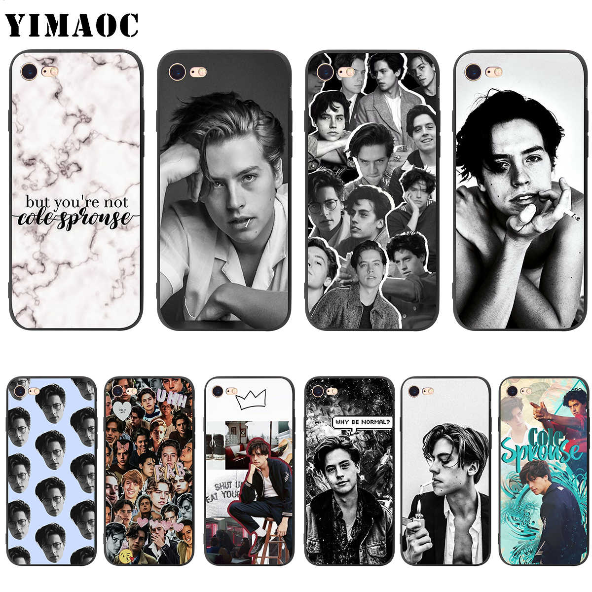 YIMAOC Cole Sprouse Soft Silicone Case for iPhone 11 Pro XS Max XR X 8 7 6 6S Plus 5 5s se