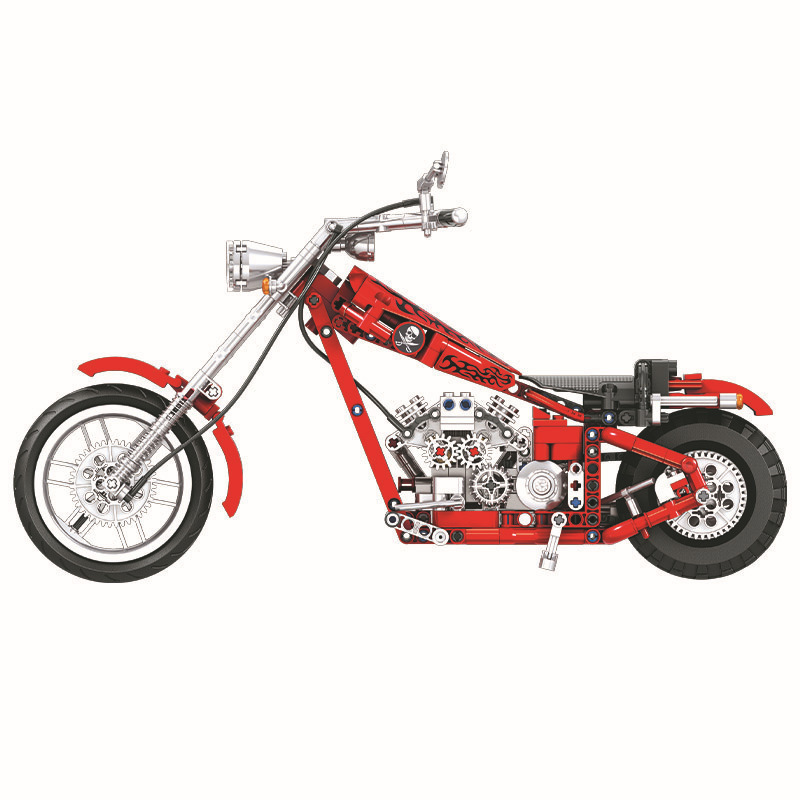 568 unids Diy Technic Series Cruising Motorcycle Building Blocks - Juguetes de construcción - foto 3