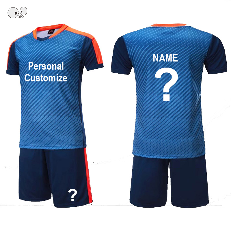 athletic football men boys jerseys set training team sport soccer uniform kits kids customize futsal sportswear suit DIY printed