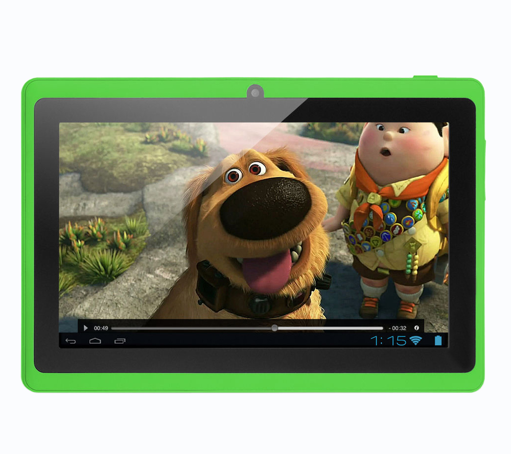 7 Inch Android Tablet Pc 8GB Flash Storage Quad Core WiFi Edition Environmental Protection Plastic For Children