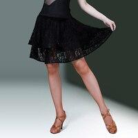 Latin Dance Skirt Women Practice Lace Skirt Female Adult Latin Dance Competition Dress Ladies Samba/Rumba/Tango Wear DQL626
