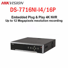 Hikvision 16CH 16 POE CCTV NVR 4 SATA DS-7716NI-I4/16P Embedded 4K SMART VCA alarm up to 12 MP Surveillance video Recorder