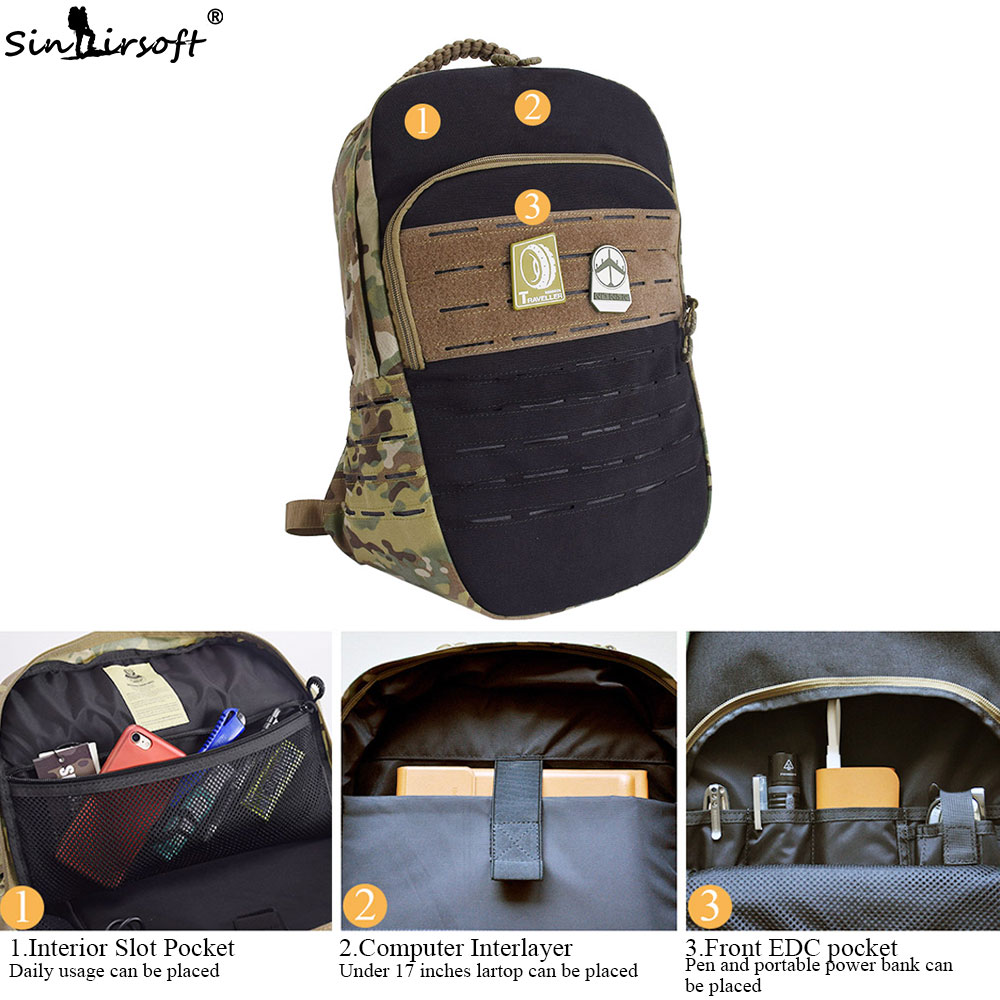 937e9b8c0201 SINAIRSOFT 25L Tactical Backpack 15 Inches laptop Cordura Military Rucksack  Portable USB Interface Sport Camping Hiking Fishing-in Climbing Bags from  Sports ...