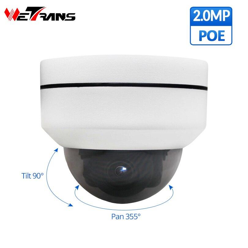 Wetrans ptz ip camera poe Outdoor Onvif Starlight Speed Dome home security camera 1080P 4X Zoom Night Vision ip cctv camera