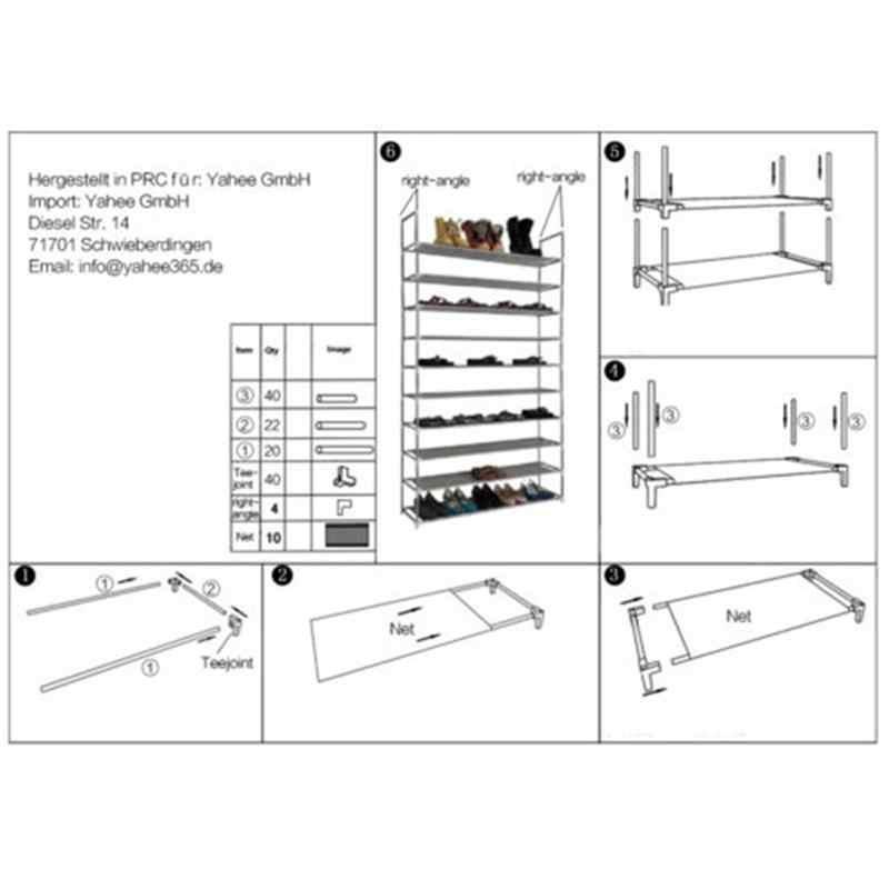 Neue 50 para 10 Tier Schuh Regale Platzsparende Lagerung Organizer Freistehende Schuh Turm Rack