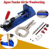 Woodworking Guide Carpenter Kit System Inclined Hole Drill Tools Clamp Base Drill Bit System Hole Jig
