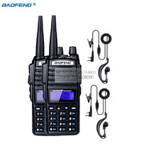 2 unids baofeng uv-82 walkie talkie cb radio uv82 portátil de dos forma de radio fm transmisor-receptor de radio de largo alcance de doble banda baofeng UV82