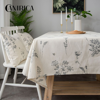 CANIRICA Table Cloth Pastoral Table Cover Linen Tablecloths Mantel Blanco Rectangular Home Decor Kitchen Accessories Decoration winsome home decor traditional xola console table cappuccino finish