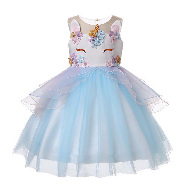 Girls' Cute Sleeveless Bright Dress