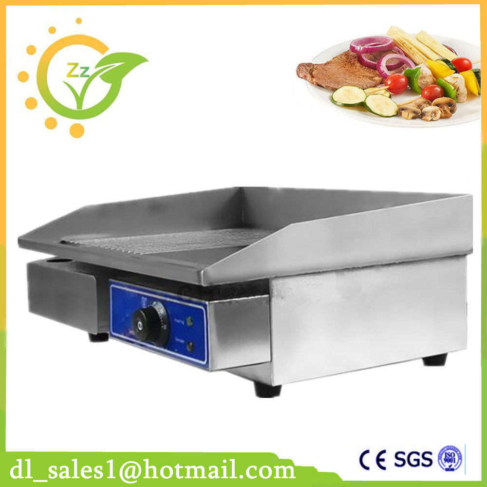 New CE Approved Electric Cast Iron Griddle Half Grooved Half Flat Grill Griddle Half Flat Germany Stock 4142 flat stock 3in wx18in l