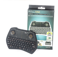 Genuine Rii Mini I28 English Wireless Air Mouse Backlit Audio Touchpad Combo Gaming Keyboard For