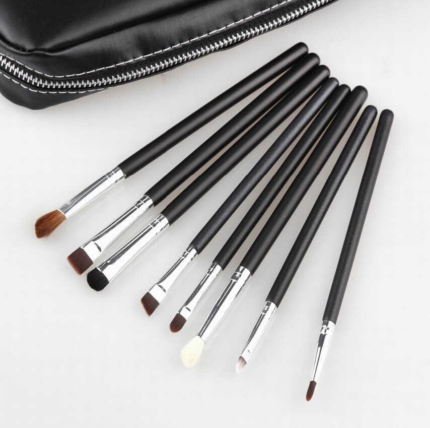 Профессиональный косметический макияж набор кистей 12 шт Кисти Косметический набор кожаная сумка брендовый Макияж инструмент
