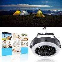Oobest Ricaricabile di Campeggio Esterna Portatile LED Fan Luce Appesa Lampada Tenda Con Gancio Multifunzione Batteria O USB Alimentato