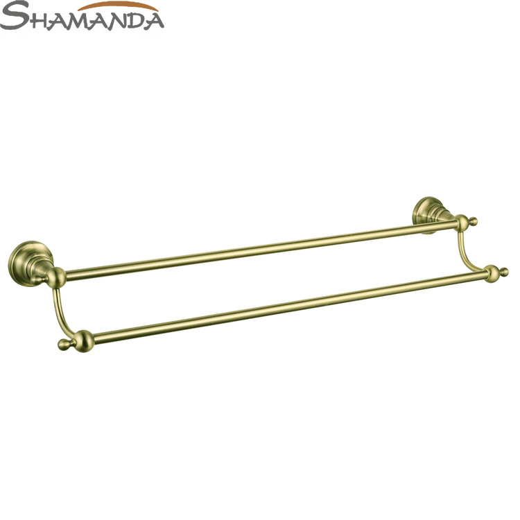 Free shipping-European Antique Bronze Double Towel Bar,towel rack,towel holder-Bathroom Accessories Products-wholesale-95009BN