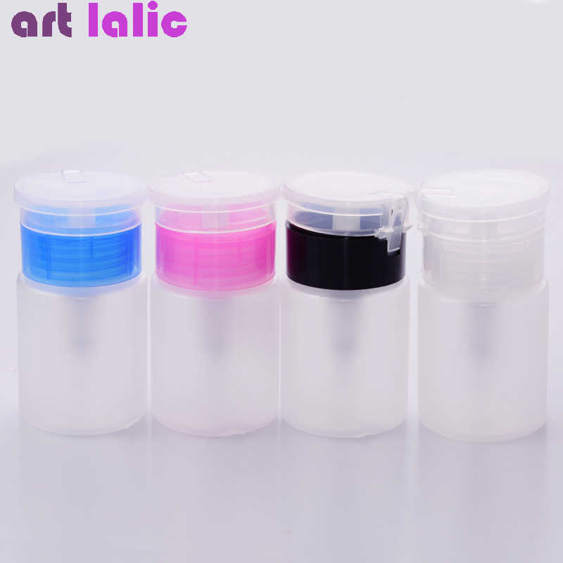 75ML Nail Art Mini Pompje Lege Fles Acryl Gel Polish Remover Cleaner Liquid Container Opslag Kleine Druk fles