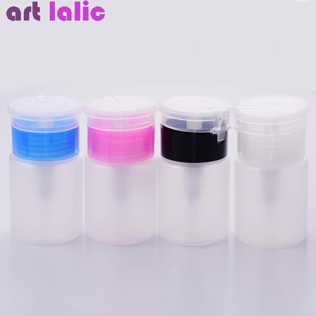 75ML Nail Art Mini pompe distributeur bouteille vide Gel acrylique dissolvant de vernis nettoyant liquide conteneur stockage petite bouteille de pression