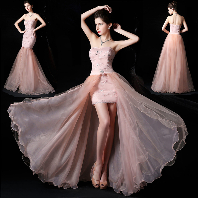 504635327e655 Sweetheart Sleeveless high low elegant white pink lace Party Gown  Homecoming Prom Ball Formal Evening Dress