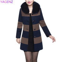 New Autumn Clothing Middle Aged Women S Woolen Outer Suit Large Size Middle Aged Mother Loaded