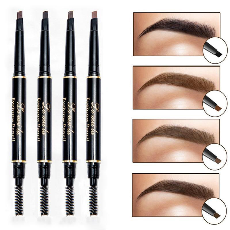 US $0 52 20% OFF|5 Type Natural Eye Brow Long Lasting Paint Eyebrow Pencil  with Brow Brush Waterproof Black Brown Automatic Makeup Cosmetic Tool-in