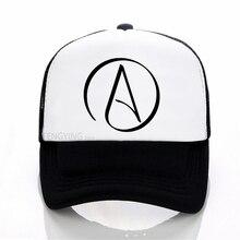 Atheist Logo Science Atom Symbol Question Everything baseball caps summer mesh trucker cap Adjustable sports hat
