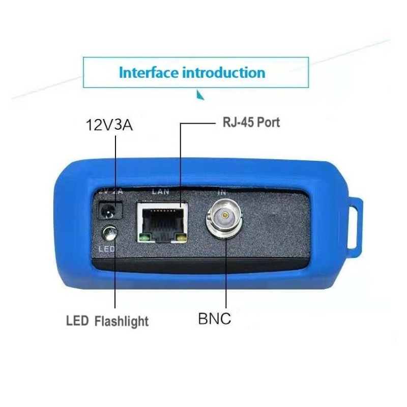 """Image 4 - 4.3"""" HD H.265 IP CCTV Tester Monitor with wire tracker tracer AHD CVI TVI Analog CVBS wifi Camera Tester 8MP RJ45 TDR ONVIF POE-in Transmission & Cables from Security & Protection"""