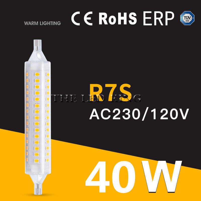 Dimmable הנורה R7S LED תירס 2835 SMD 78mm 118mm 135mm 189mm אור 15W 20W 30W 40W להחליף הלוגן מנורת AC 85-265V הארה