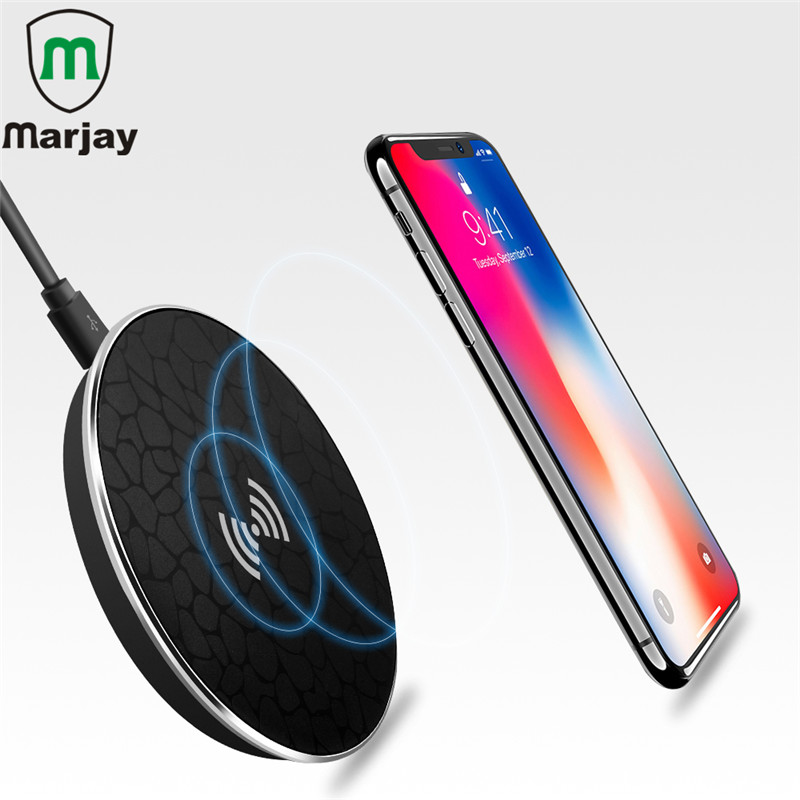 Qi Wireless Charger Fast Charging Pad for iPhone 8 8 Plus X Samsung Note 8 Galax