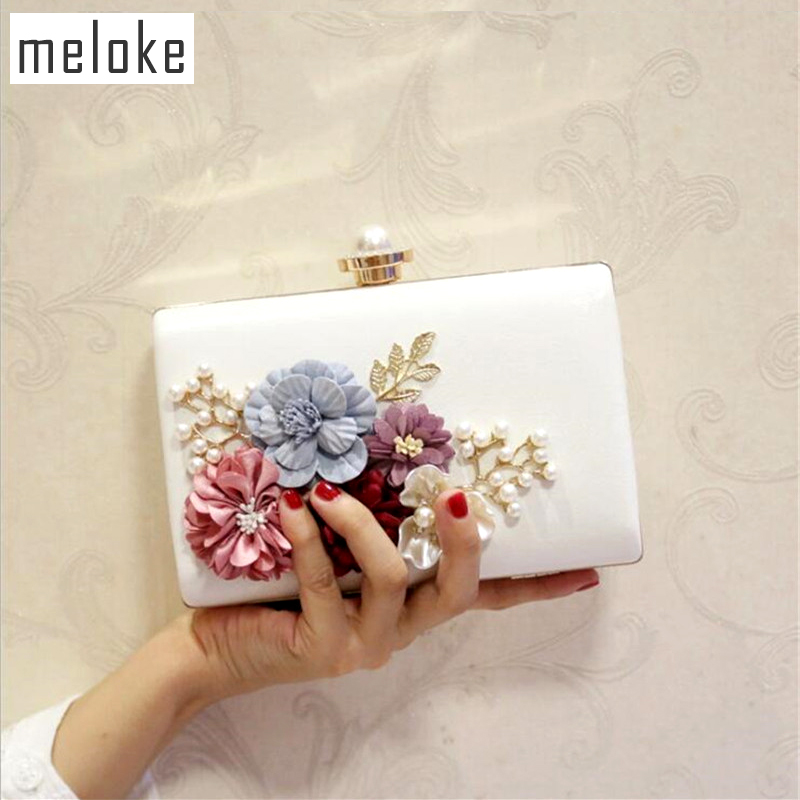 Aliexpress.com   Buy Meloke 2019 high quality flowers evening clutch bags  wedding dinner bags for ladies luxury pearl clutch wallets MN769 from  Reliable ... 97eb47363b4c