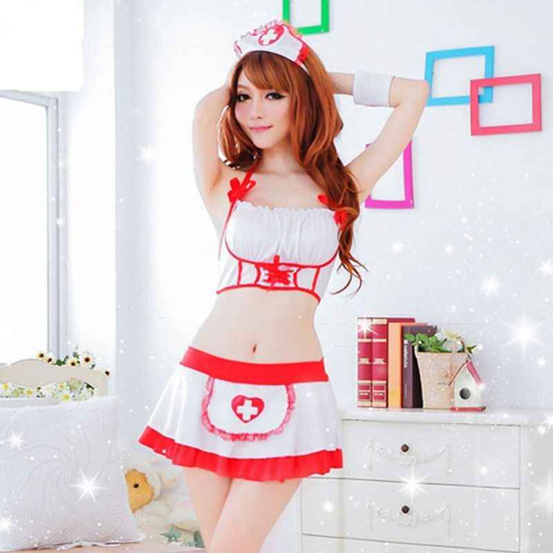 18cce8cb83ebb ... Women Sexy Nurse Cosplay Uniform Costume Lingerie Doctor Role Play  Outfits Sets ...