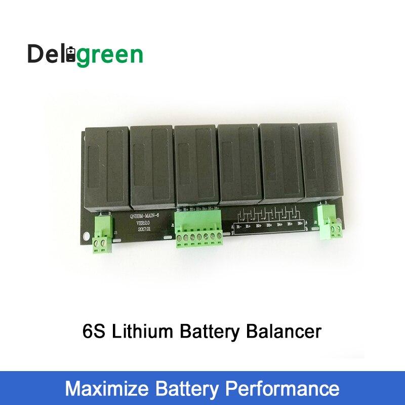 QNBBM 6S active balancer lifepo4 lipo balancer for 18V 24V LTO LiNCM Li ion battery bank Solar panel