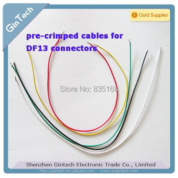 Предварительно обжимные кабели 12 шт./лот для соединителей DF13, проводной кабель DF13, apm2.5 кабель 20 см